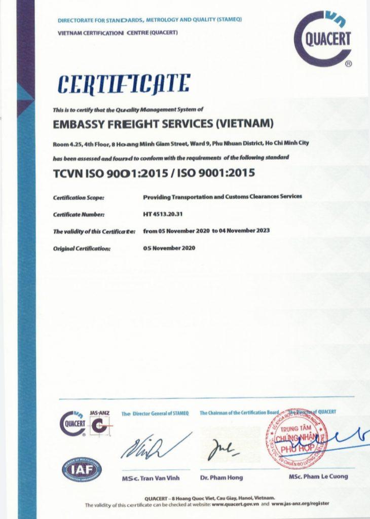 CHUNG NHAN ISO EFS UK
